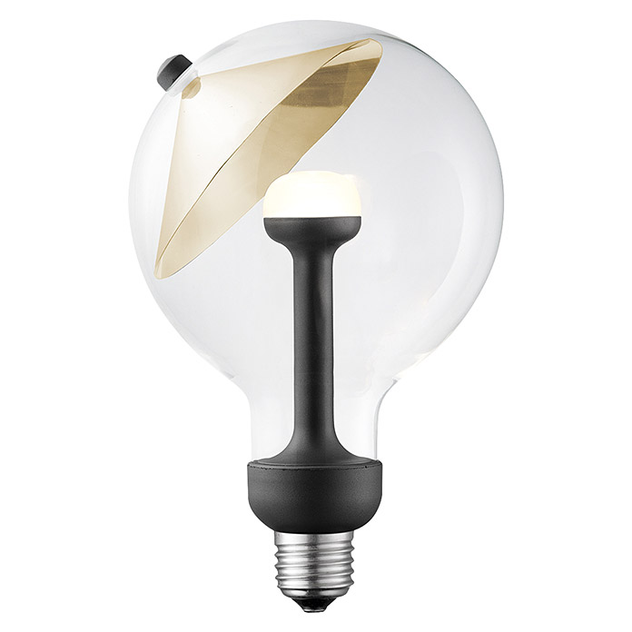 Home Sweet Home LED-Leuchtmittel Cone (E27, 5,5 W, Gold, G120, Dimmbar)