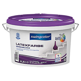 swingcolor Mix Latexfarbe Basis 1 (Basismischfarbe, 2,5 l, Seidenglänzend)