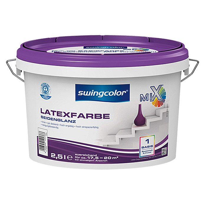 swingcolor Mix Latexfarbe  (2,5 l, Seidenglänzend)