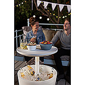 Keter Nevera portátil Cool Bar LED (L x An x Al: 49,5 x 49,5 x 84,5 cm, Blanco)