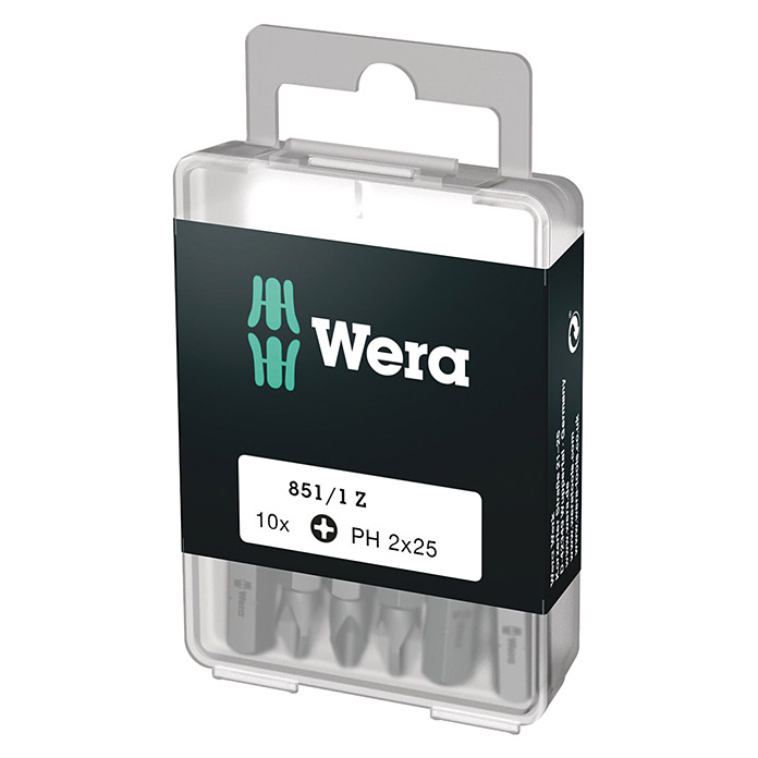 Wera Bit-Box 851/1 (PH 2, 10-tlg.)