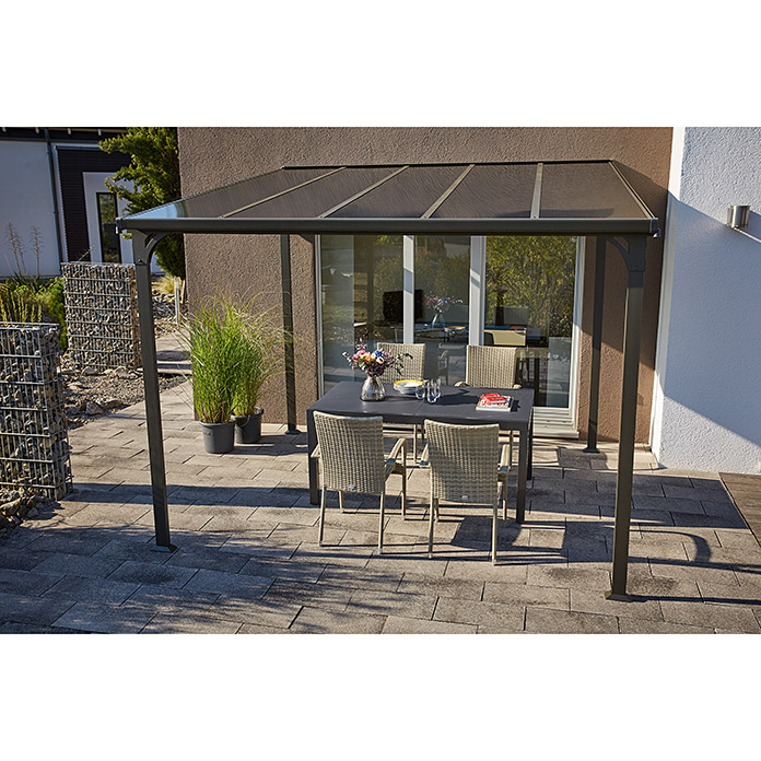 Sunfun Anstellpavillon Poly (L x B: 300 x 300 cm, Anthrazit)