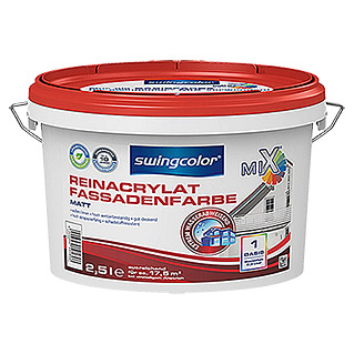 swingcolor Mix Reinacrylat-Fassadenfarbe  (2,5 l, Matt)