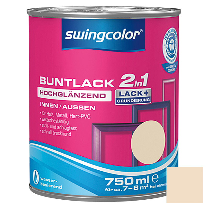 swingcolor 2in1 Buntlack  (Hellelfenbein, 750 ml)