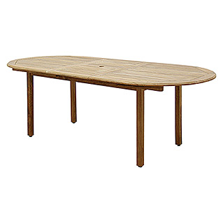 Mesa de madera extensible Maliana (L x An: 170 x 100 cm, Natural)
