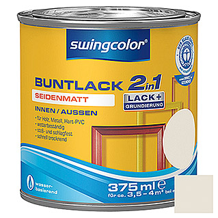 swingcolor 2in1 Buntlack (Cremeweiß, 375 ml, Seidenmatt)