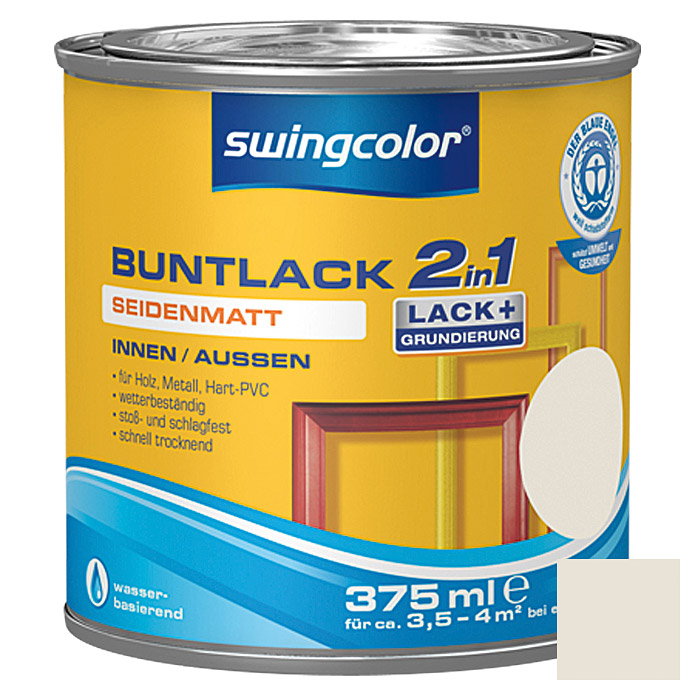 BUNTLACK 2IN1 SDM.WB375 ml CREMEWEISS   SWINGCOLOR