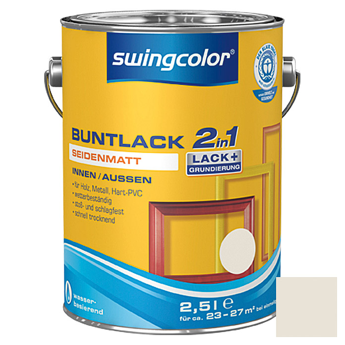 BUNTLACK 2IN1 SDM.WB2,5 l CREMEWEISS   SWINGCOLOR