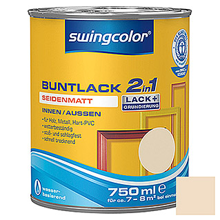 swingcolor 2in1 Buntlack (Hellelfenbein, 750 ml, Seidenmatt)