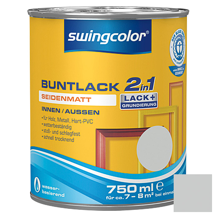 swingcolor 2in1 Buntlack (Lichtgrau, 750 ml, Seidenmatt)