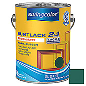 swingcolor 2in1 Buntlack (Moosgrün, 2,5 l, Seidenmatt)