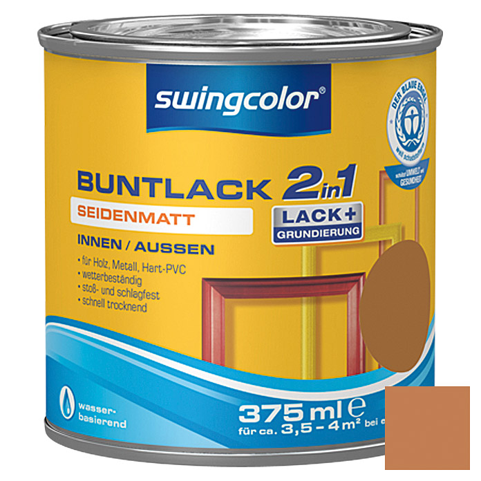 swingcolor 2in1 Buntlack (Ockerbraun, 375 ml, Seidenmatt)
