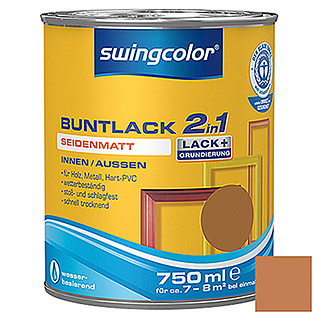 swingcolor 2in1 Buntlack (Ockerbraun, 750 ml, Seidenmatt)