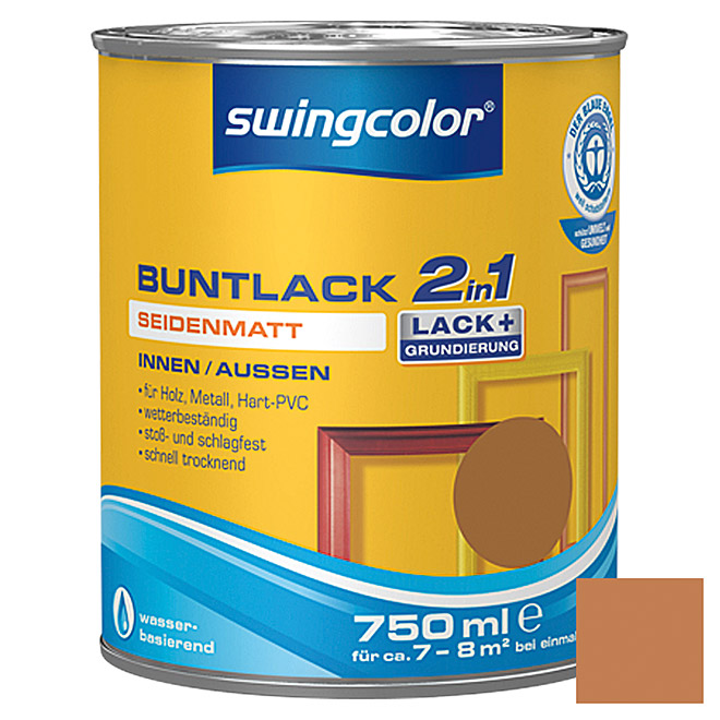 swingcolor 2in1 Buntlack  (Ockerbraun, 750 ml)