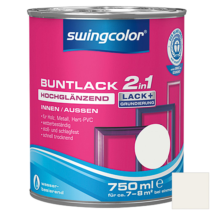 BUNTLACK 2IN1 HGL.WB750 ml WEISS        SWINGCOLOR