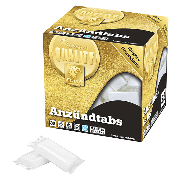 Flash Gold Anzünder XL-Tabs (Inhalt: 32 Stk.) -
