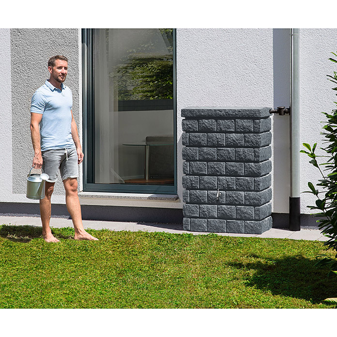 Garantia Exklusive Line Wandtank Rocky Junior (300 l, Darkgranite)