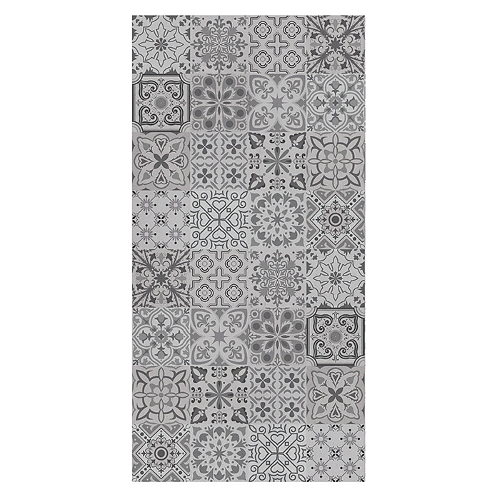Bariperfil Panel de pared y suelo Hidraulic Concrete Grey (1,2 m x 60 cm, Gris)
