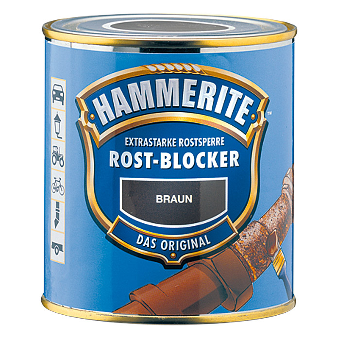 hammerite rost blocker braun 500 ml matt. Black Bedroom Furniture Sets. Home Design Ideas