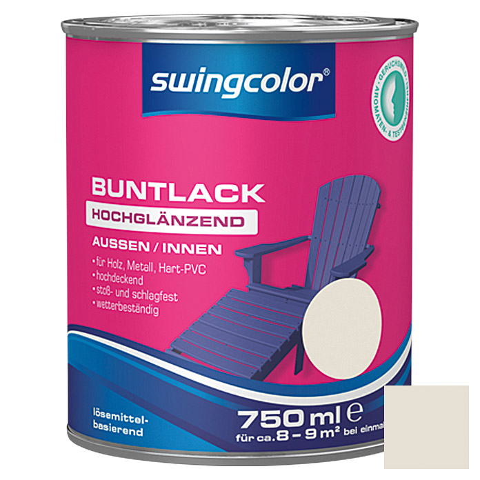 BUNTLACK HGL. LB    750 ml CREMEWEISS   SWINGCOLOR