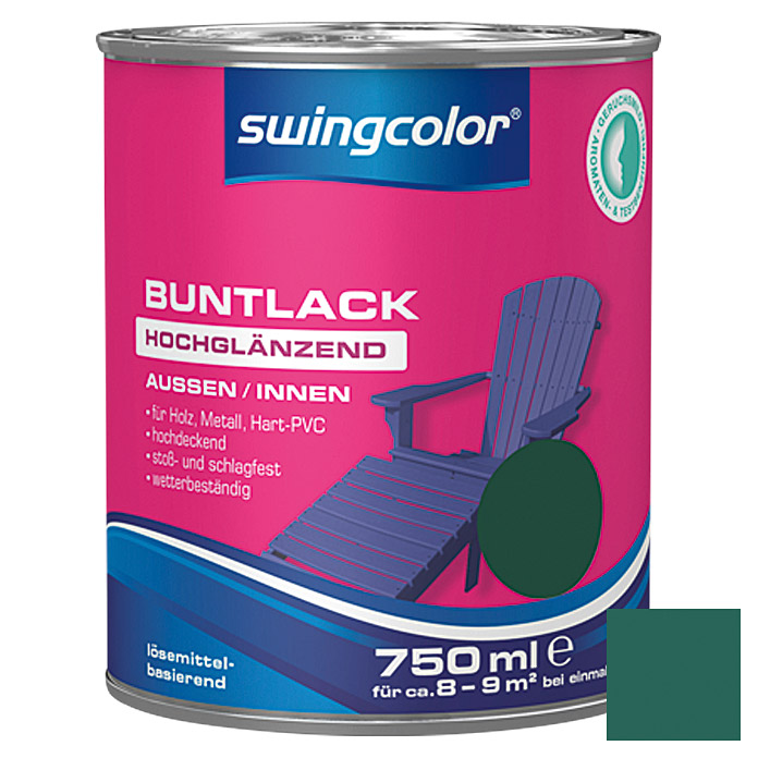 BUNTLACK HGL. LB    750 ml MOOSGRUEN    SWINGCOLOR