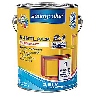 swingcolor Mix Buntlack 2in1 (Basismischfarbe, 2,5 l, Seidenmatt)