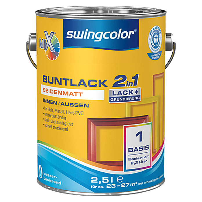 swingcolor Mix Buntlack 2in1 (2,5 l, Seidenmatt)