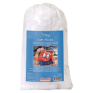 Glorex Hobby Time Füllmaterial Soft Flocks (Weiß, 150 g, 100 % Polyester)
