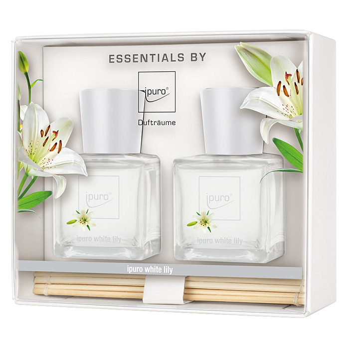 Ipuro Essentials Raumduft (White Lily, 2 x 50 ml)