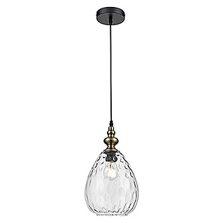 Tween Light Pendelleuchte Pianosa (60 W, Schwarz/Transparent, Höhe: 150 cm)
