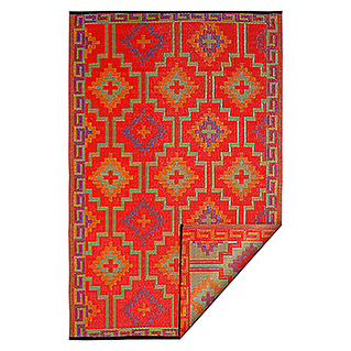 Teppich Outdoorteppich Lhasa (Orange/Violett, 240 x 150 cm, 100 % Polypropylen)