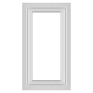 Solid Elements Kunststofffenster Q71 Supreme (B x H: 75 x 135 cm, Links, Weiß)