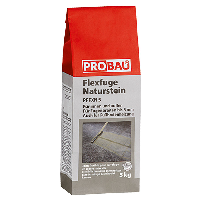 FLEXFUGE NATURSTEIN 2-8mm ANTHRAZIT 5kg  PROBAU