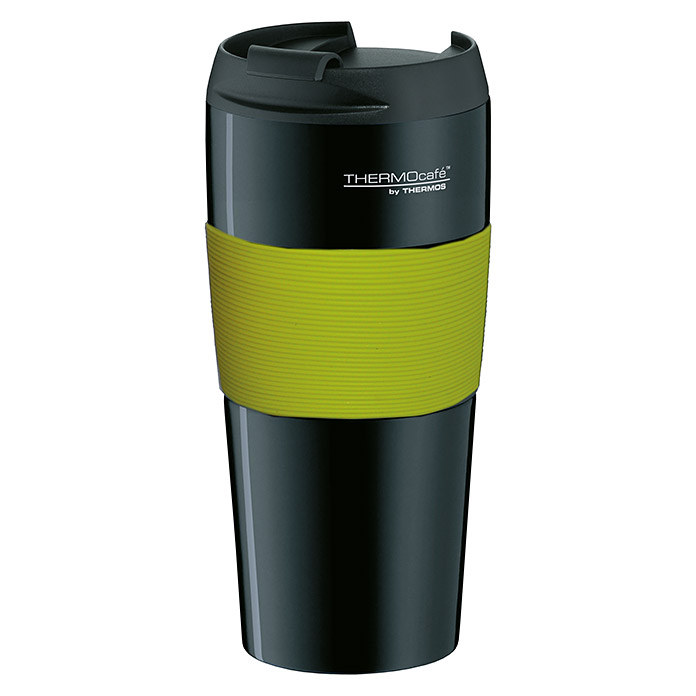 Thermos Thermo-Trinkbecher ThermoPro (0,4 l, Schwarz/Lime Green)