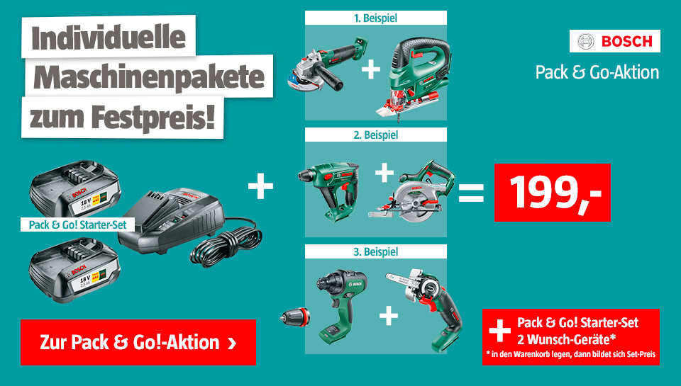 Bosch Pack & Go Aktion
