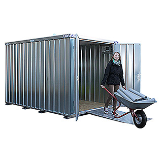 BOS Best of Steel Schnellbaucontainer SC3000-3x2-SZS (3,1 x 2,1 x 2,1 m, Stahlblech)