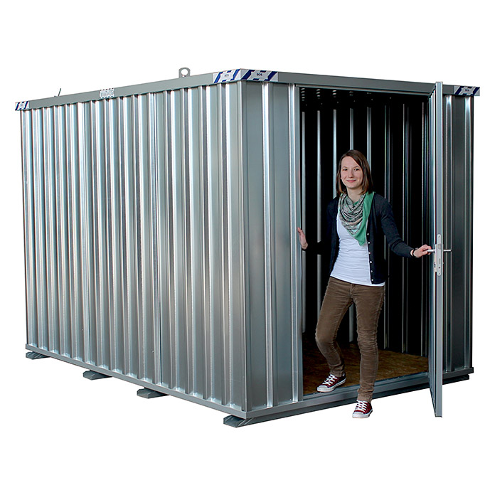 BOS Best of Steel Schnellbaucontainer SC3000-3x2-SE (3,1 x 2,1 x 2,1 m, Stahlblech)