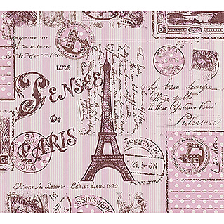 AS Creation Boys And Girls 6 Papiertapete Briefe aus Paris (Pink, Motiv, 10,05 x 0,53 m)