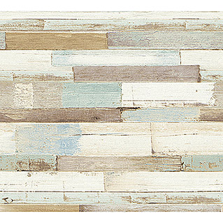 AS Creation Il Decoro Vliestapete Klinker (Beige/Blau, Holzoptik, 10,05 x 0,53 m)