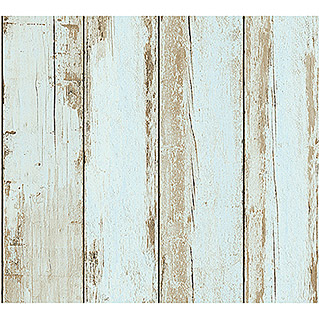 AS Creation Il Decoro Vliestapete Vintage-Wood (Blau, Holzoptik, 10,05 x 0,53 m)
