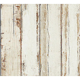 AS Creation Il Decoro Vliestapete Vintage-Wood (Beige, Holzoptik, 10,05 x 0,53 m)
