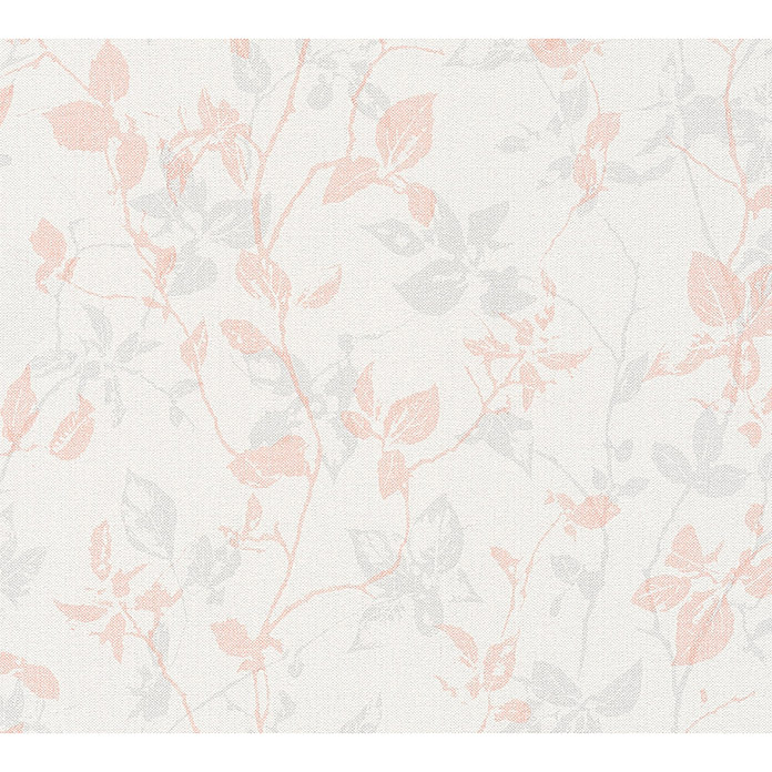 AS Creation Hygge Vliestapete Floral (Grau/Lachs, Floral, 10,05 x 0,53 m) -