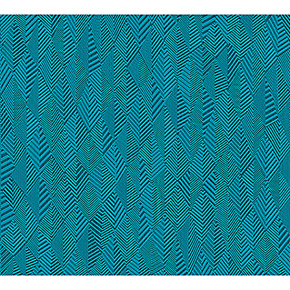AS Creation Club Tropicana Vliestapete (Blau, Grafisch, 10,05 x 0,53 m)