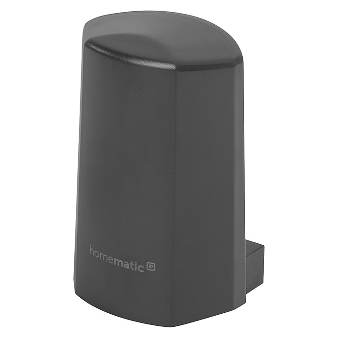Homematic IP Funk-Temperatursensor (Grau, 5,9 x 8,2 x 4,1 cm, Batteriebetrieben, IP44)