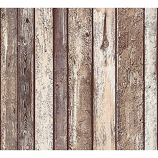 AS Creation Il Decoro Vliestapete (Beige/Bordeaux, Holzoptik, 10,05 x 0,53 m)