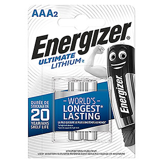 Energizer Batterie Ultimate Lithium (Micro AAA, 1,5 V, 2 Stk.)