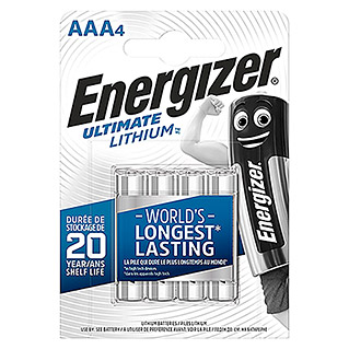 Energizer Batterie Ultimate Lithium (Micro AAA, 1,5 V, 4 Stk.)