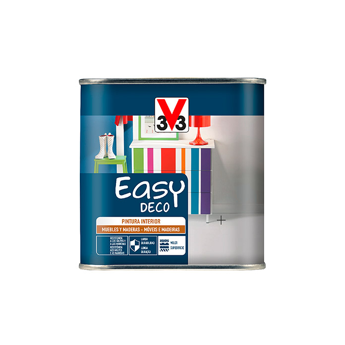 V33 Esmalte de color Easy deco (Blanco, 500 ml, Satinado)