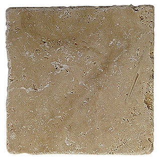 Antikmarmor Travertin (10 x 10 cm, Beige, Matt)