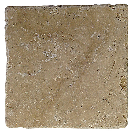 Antikmarmor Travertin Chiaro (10 x 10 cm, Beige, Matt)